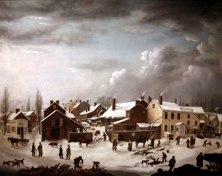 WLA_brooklynmuseum_Francis_Guy-Winter_Scene_in_Brooklyn_ca_1819-1820